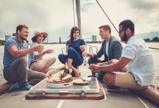 Break the Pattern and Host a Cocktail Party in a Yacht
